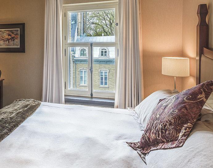 Une chambre de l'Hôtel Château Bellevue